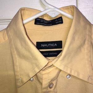 Nautica Shirts - 💛🔆NAUTICA MEN'S yellow Dress/Casual shirt 🔆💛